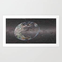 Galactic Coordinates Over Milky Way by Hatart [Includes Constellations] Art Print