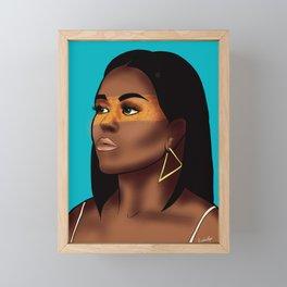 Michelle Obama Framed Mini Art Print