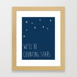 We'll be counting stars  Framed Art Print
