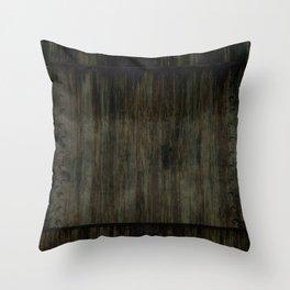 Grunge dark panel Throw Pillow