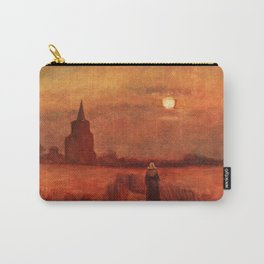 The Old Tower in the Fields by Vincent van Gogh Carry-All Pouch