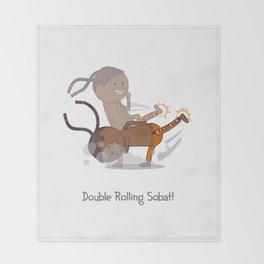 Double Rolling Sobat! Throw Blanket