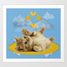 Kitty Wonder Art Print