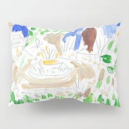 Garden Scene Pillow Sham