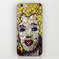 marylin monroe iPhone & iPod Skins featuring MARYLIN MONROE by JANUARY FROST