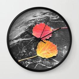 Autumn leaves Wall Clock
