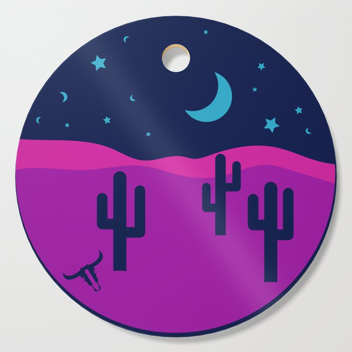 Modern Desert Cactus Scene #desert #cactus Cutting Board