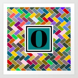 O Monogram Art Print