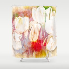 Tulip Fever Abstract Art Shower Curtain