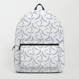 Celebration Party Time Bunting Pattern White & Blue Backpack
