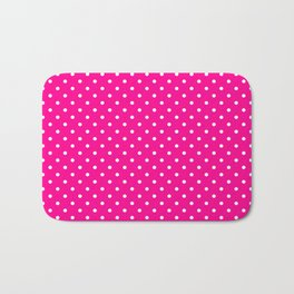 Dots (White/Magenta) Bath Mat