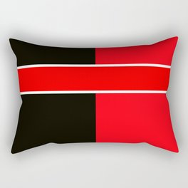 Team Colors 6...red,black,white Rectangular Pillow