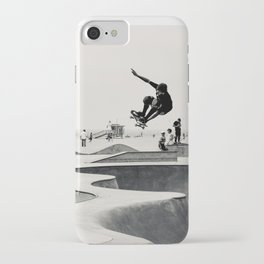 Skateboarding Print Venice Beach Skate Park LA iPhone Case