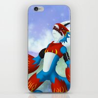 digimon iPhone & iPod Skins featuring Flamedramon by Zaukhes