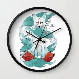 Frozen Kitsune Wall Clock