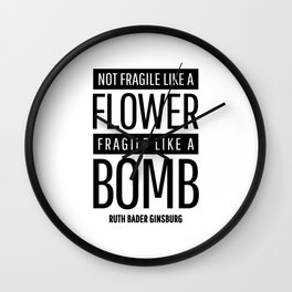 RBG QUOTES Wall Clock