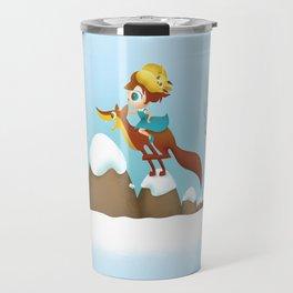 The quick brown fox jumps Travel Mug
