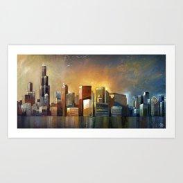 Chicago Sunrise Art Print