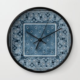 Blue Denim Bandana Wall Clock