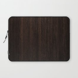 Very Dark Coffee Table Wood Texture Laptop Sleeve