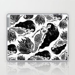 Mermaid Linocut Laptop & iPad Skin