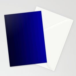 Rich Vibrant Indigo Blue Gradient Stationery Cards