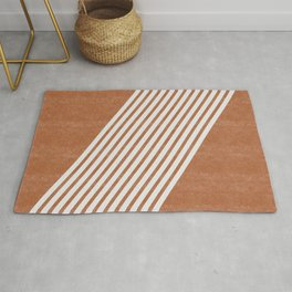 Mid Century Modern Abstract Lines Left Rug