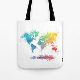 World Map splash 2 Tote Bag
