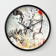 Crazy Family Wall Clock