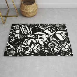 Classic computer gaming characters Rug