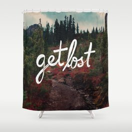 Get Lost in the Pacific Northwest Shower Curtain