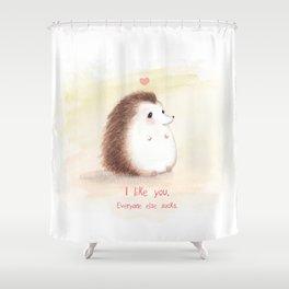 Antisocial Hedgehog Shower Curtain