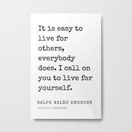 47   | Ralph Waldo Emerson Quotes | 200727 Metal Print