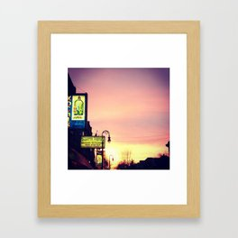 Detroit: Mexican town sunset Framed Art Print