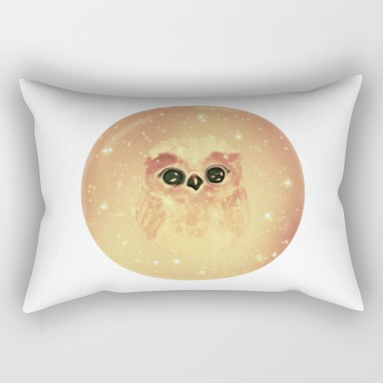 baby owl white Rectangular Pillow