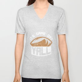 It's Game Day Y'all - Texas Funny Football Illustration Unisex V-Neck