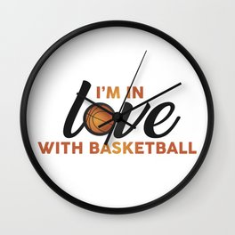 I'm in LOVE with Basketball Wall Clock