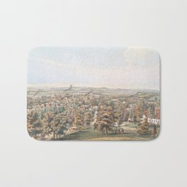 Vintage Pictorial Map of Springfield MA (1851) Bath Mat