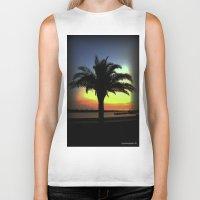 palm Biker Tanks featuring Palm by Chris' Landscape Images & Designs