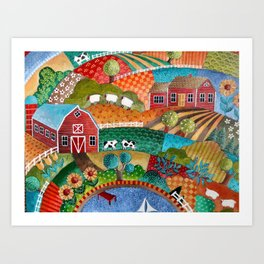 BONNIE DOON HILLS Art Print
