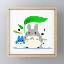 kawaii chinchilla totoroo Framed Mini Art Print