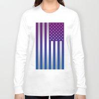 american flag Long Sleeve T-shirts featuring American Flag by Tiede van der Steege