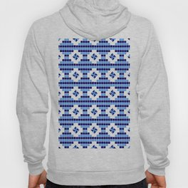 optical pattern 73 square and rhombus Hoody