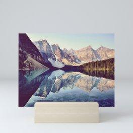 Moraine Lake Reflection Mini Art Print