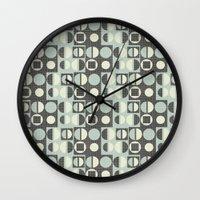 mod Wall Clocks featuring mod by kociara