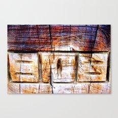 Wood Engraving Canvas Print