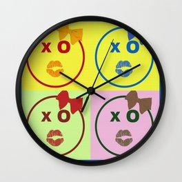 Kissy Lovey Face Wall Clock