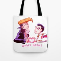 dangan ronpa Tote Bags featuring Forget Forget by blue