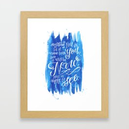 You Keep Moving On [Sunday In The Park With George] Framed Art Print