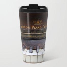 Piano keys Old antique vintage music instrument Travel Mug